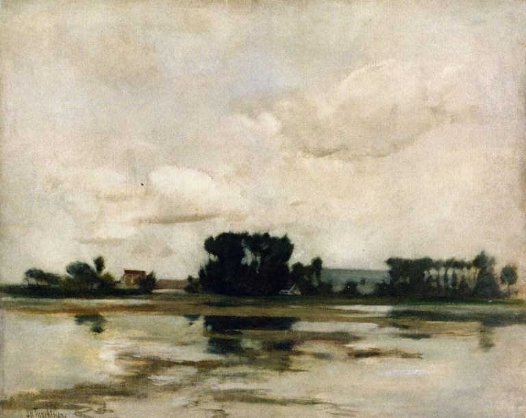 L'Etang 1 | John Twachtman | oil painting