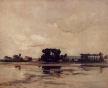L'Etang | John Twachtman | oil painting