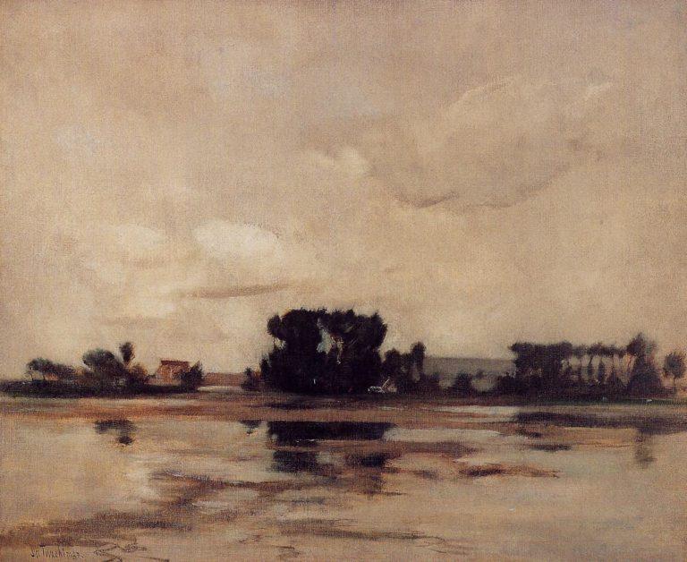 L'Etang | John Twachtman | oil painting