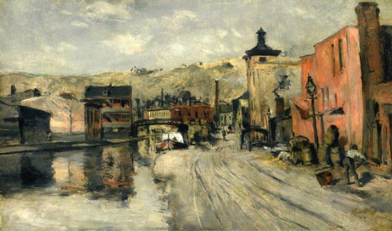Miami Canal Cincinnati | John Twachtman | oil painting