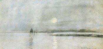 Moonlight Flanders | John Twachtman | oil painting