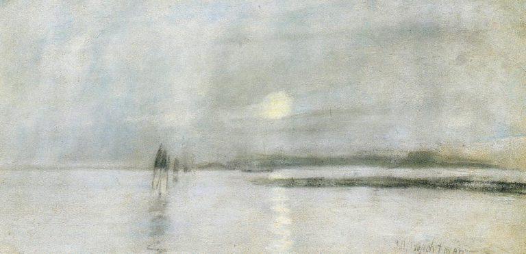 Moonlight Flanders   John Twachtman   oil painting