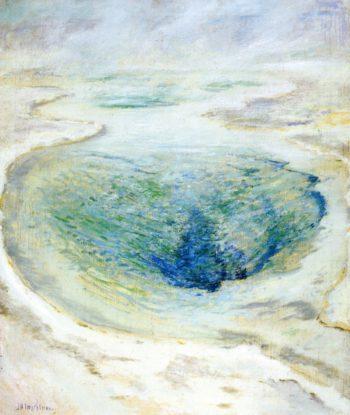 Morning Glory Pool Yellowstone | John Twachtman | oil painting