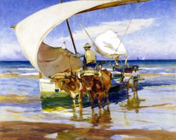 Bracing the Boats | Mathias J Alten | oil painting