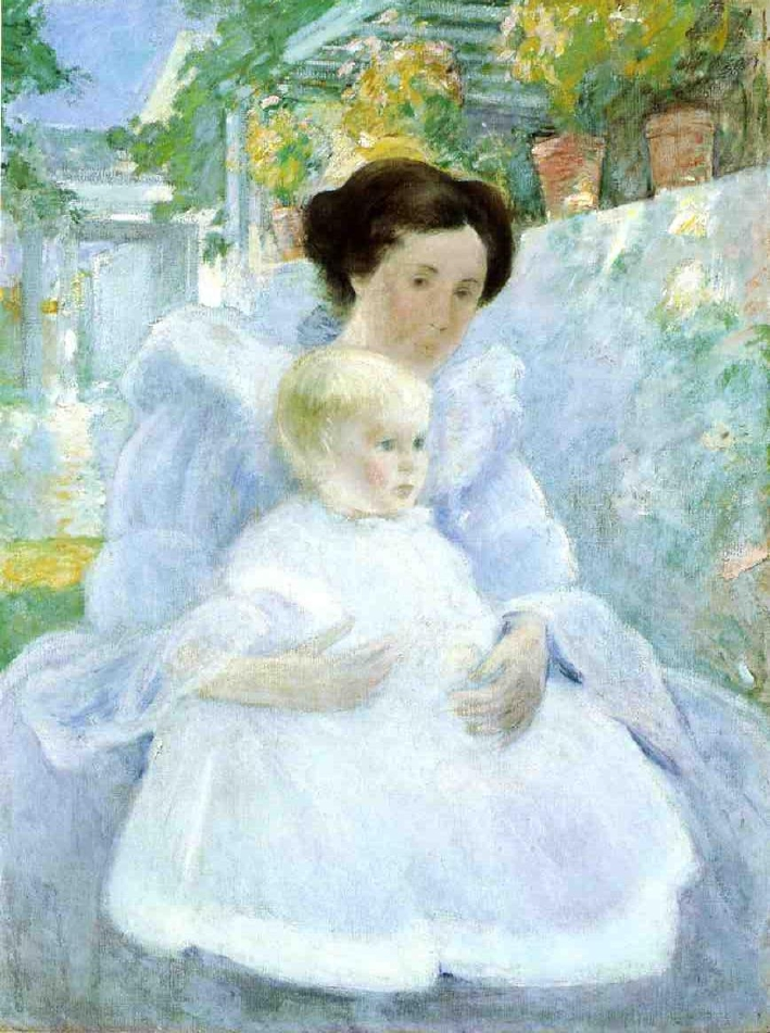 Mother and Child   John Twachtman   oil painting