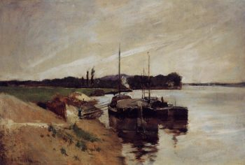 Mouth of the Seine | John Twachtman | oil painting