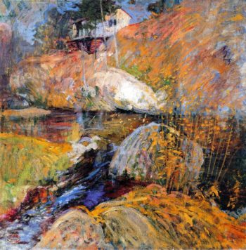 My Summer Studio | John Twachtman | oil painting
