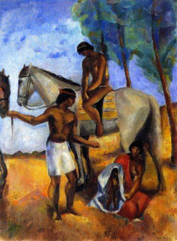 Apache Braves | Paul Burlin | oil painting