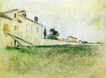 Near Paris | John Twachtman | oil painting