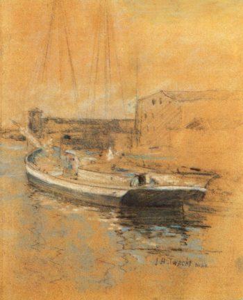 Newport Harbor | John Twachtman | oil painting