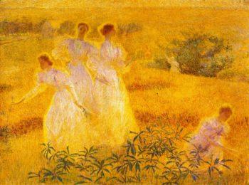 Girls in Sunlight | Phillip Leslie Hale | oil painting