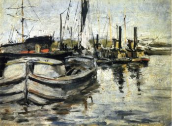 New York Harbor | John Twachtman | oil painting