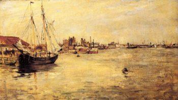 New York Harbor | John Twachtman | oil painting