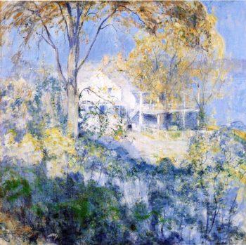 October | John Twachtman | oil painting