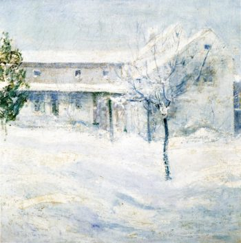 Old Holley House Cos Cob | John Twachtman | oil painting