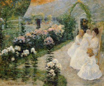 On the Terrace | John Twachtman | oil painting