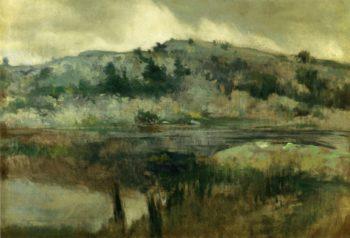 Paradise Rocks Newport | John Twachtman | oil painting