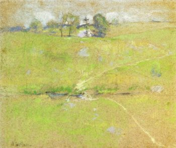 Path in the Hills Branchville Connecticut | John Twachtman | oil painting