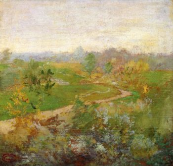Road over the Hill | John Twachtman | oil painting