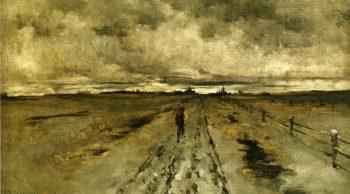 Road Scene Cincinnati | John Twachtman | oil painting