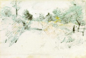 Road Scene | John Twachtman | oil painting