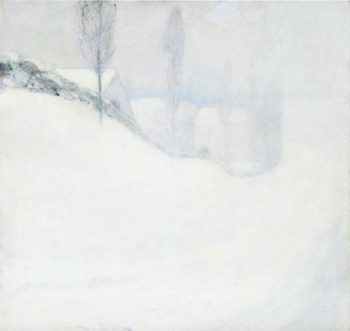 Round Hill Road | John Twachtman | oil painting