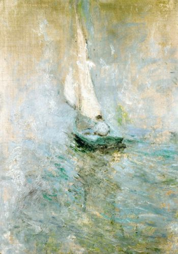 Sailing in the Mist | John Twachtman | oil painting