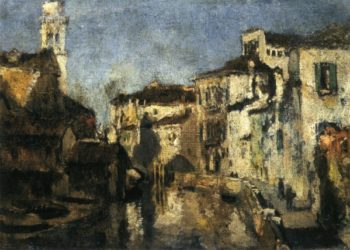 San Trovaso Square Venice | John Twachtman | oil painting
