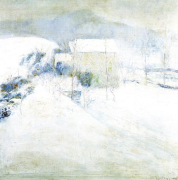 Snow Scene at Utica | John Twachtman | oil painting