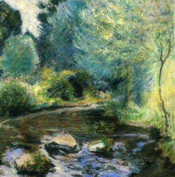 Spring Stream | John Twachtman | oil painting