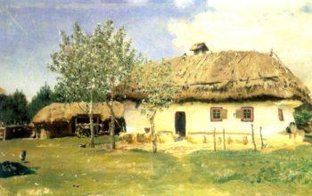 Ukrainian peasant house | Ilia Efimovich Repin | oil painting