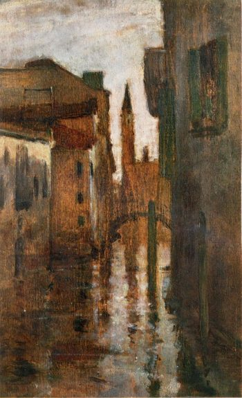 The Campanile Late Afternoon | John Twachtman | oil painting