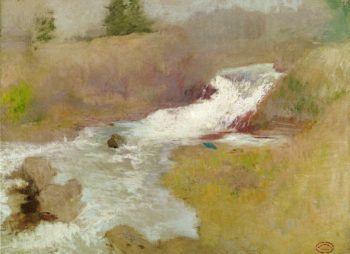 The Cascade in Spring | John Twachtman | oil painting