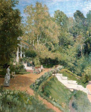 Summer day in Abramtsevo | Ilia Efimovich Repin | oil painting