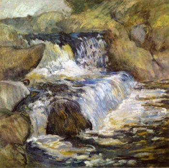 The Cascade | John Twachtman | oil painting