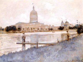 The Chicago World's Fair Illinois Building | John Twachtman | oil painting