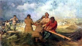 Storm on the Volga | Ilia Efimovich Repin | oil painting