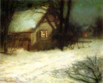 The Christmas Tree | John Twachtman | oil painting