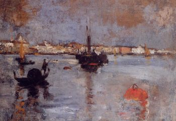 The Grand Canal Venice | John Twachtman | oil painting