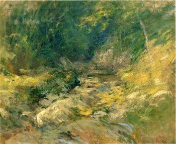 The Hidden Pool | John Twachtman | oil painting