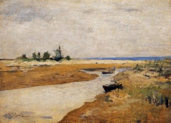 The Inlet | John Twachtman | oil painting