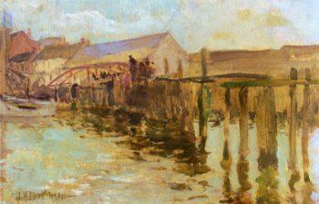 The Landing Newport | John Twachtman | oil painting