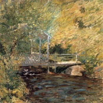 The Little Bridge | John Twachtman | oil painting