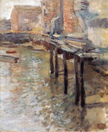 The Old Mill at Cos Cob | John Twachtman | oil painting