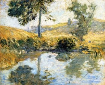 The Pool | John Twachtman | oil painting