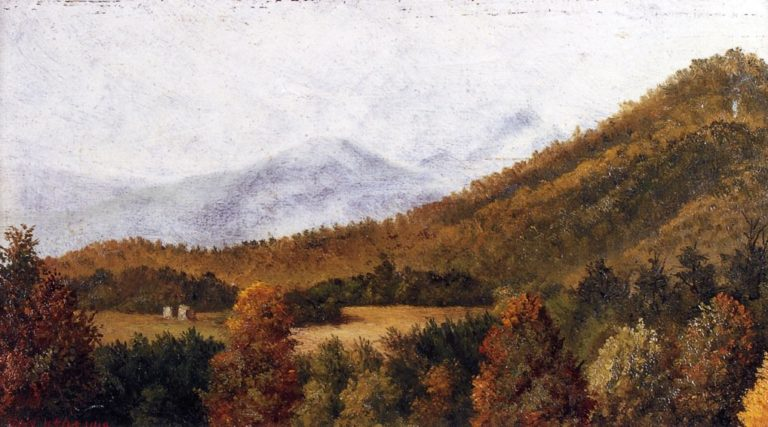 Wooded Mountain Scene in North Carolina 1   William Aiken Walker   oil painting