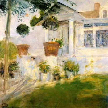 The Portico | John Twachtman | oil painting