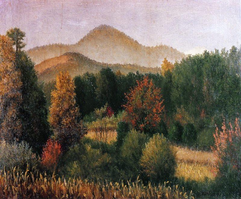 Wooded Mountain Scene in North Carolina | William Aiken Walker | oil painting