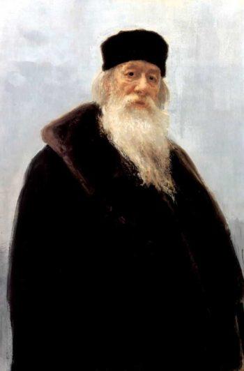 Portrait of the Art Critic Vladimir Stasov | Ilia Efimovich Repin | oil painting