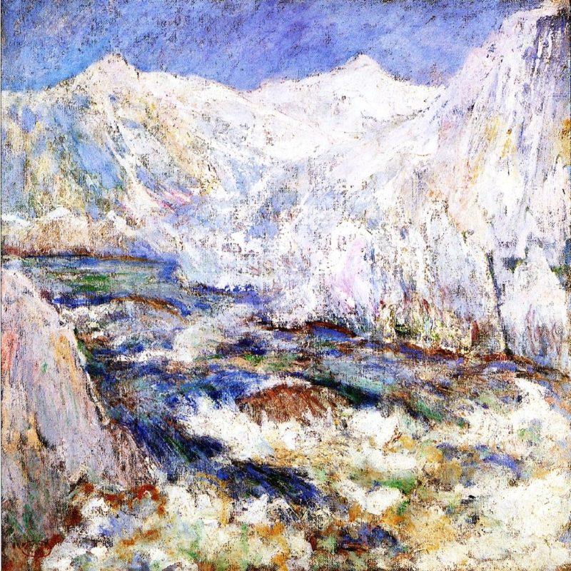 The Rapids Yellowstone   John Twachtman   oil painting